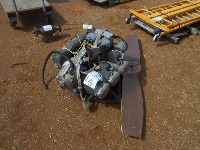 TELEDYNE CONTINETAL GAS ENGINE W PROPELLER, FITS AIR BOAT