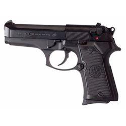 "Beretta USA JS92F850M 92 Compact Single/Double 9mm 4.2"" 13+1 Black Checkered Grip Black Bruniton"