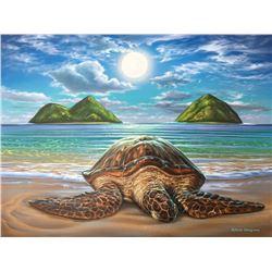 Honu Moon Mokulua - KAI Waikiki Ocean Art Show, Patrick Ching 2016
