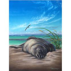 Seal Dreams - KAI Waikiki Ocean Art Show, Patrick Ching 2016