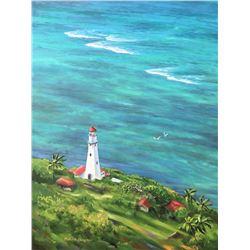 Diamond Head Lagoon - KAI Waikiki Ocean Art Show, Patrick Ching 2016