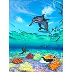 Dolphin Reef - KAI Waikiki Ocean Art Show, Patrick Ching 2016