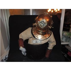 NAUTICAL DIVE SUIT WITH HELMET AND POT FROM WHEAT THINS CHILI POT COMMERCIAL