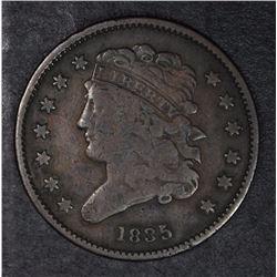 1835 HALF CENT FINE/VF