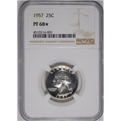 1957 WASHINGTON QUARTER, NGC PF-68* ( STAR )