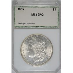1889 MORGAN SILVER DOLLAR, PCI CHOICE BU