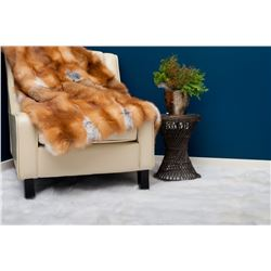 RED FOX FUR BLANKET - FURCANADA