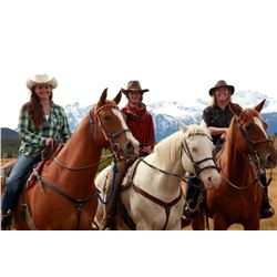 3 DAY / 4 NIGHT HORSEBACK RIDING TRIP  FOR 4 GUESTS
