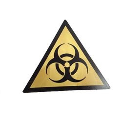 Resident Evil 6 Screen Used Biohazard Symbol Sign Movie Props