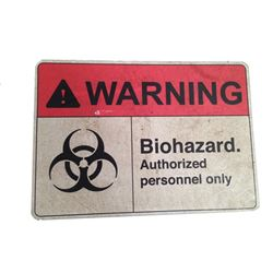 Resident Evil 6 Screen Used BioHazard Umbrella Sign Movie Props
