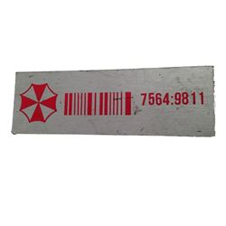 Resident Evil 6 Umbrella Barcode Sticker Movie Props