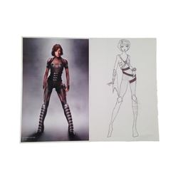 Resident Evil: The Final Chapter Costume Design Drawing Movie Memorabilia