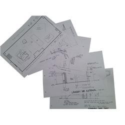 Resident Evil: Retribution Plans/Blueprints Movie Memorabilia