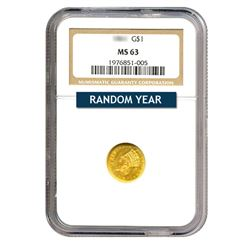 $1 Gold Type 2 MS63