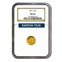 $1 Gold Type 2 MS64