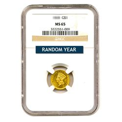 $1 Gold Type 3 MS65