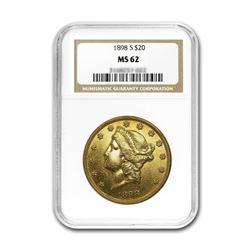 1898-S $20 Liberty NGC MS62