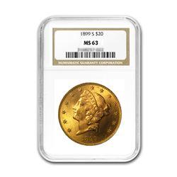 1899-S $20 Liberty NGC MS63