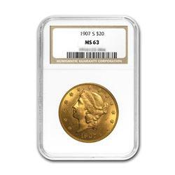 1907-S $20 Liberty NGC MS63