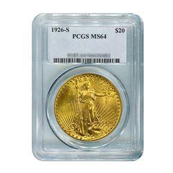 1926-S $20 Saint Gaudens PCGS MS64