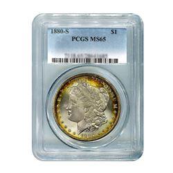 1880-S $1 Morgan Silver Dollar - PCGS MS65