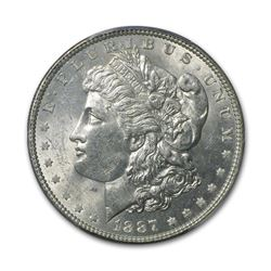 1887 $1 Morgan Silver Dollar AU