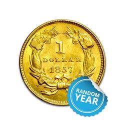 $1 Gold Type 3 AU