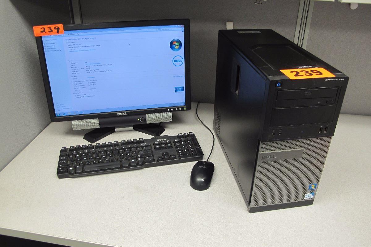 Dell Optiplex 380 Desktop Computer 2 70ghz 2gb 250gb w/Flat