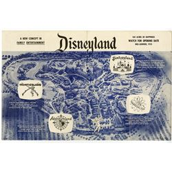 Disneyland Pre-Opening Gate Flyer.