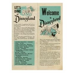Welcome to Disneyland  Gate Hand-Out.