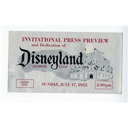 Opening Day Press Preview Ticket.