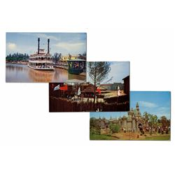 Collection of (3) Rare Oversize Postcards.