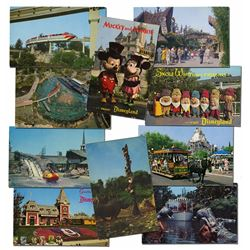 Collection of (100) Disneyland Postcards.