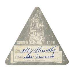 "1958 ""Guided Tour"" Disneyland Sticker."