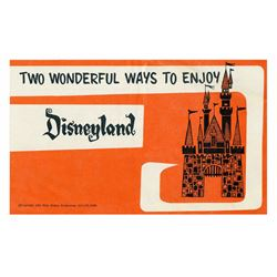 """Two Wonderful Ways to Enjoy Disneyland"" Gate Flyer."