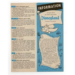 Information on Disneyland Fold-Out - 1961.