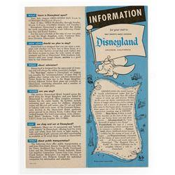 Information on Disneyland Fold-Out - 1961.