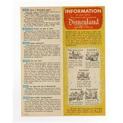 Information on Disneyland Fold-Out.