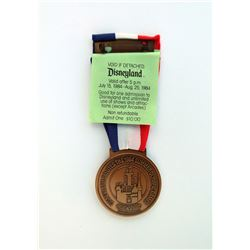 "Disneyland 1984 Summer Olympic Games ""Olympic Spirit Passport"" Park Admission Medal."