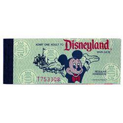 Unused Disneyland Ticket Book.