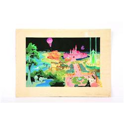 Sam Armstrong Signed Disneyland Book Art.