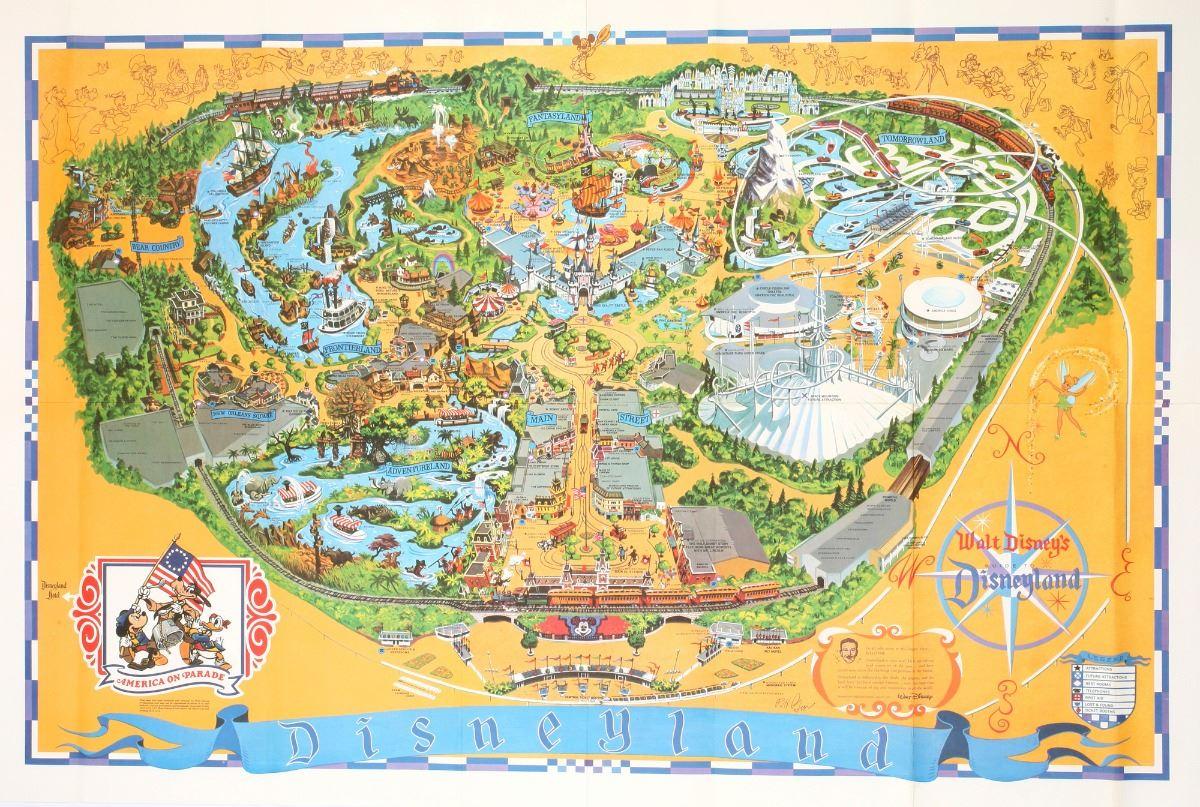 1975 Disneyland Map. on