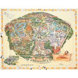 1995 Disneyland Map.