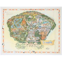 Bob Gurr Signed 2000 Disneyland Map.