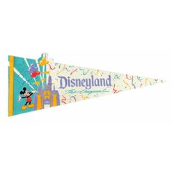 "Disneyland ""The Original"" Die-Cut Pennant."