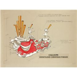 """Disneyland Christmas Parade"" Float Design by Wes Cook."