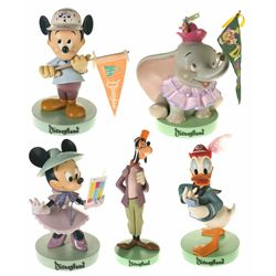 "Collection of (5) Disneyland 50th Anniversary ""Big Figs""."
