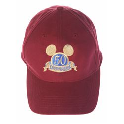 Disneyland 50th Anniversary Custodial Dept. Bag and Cap.