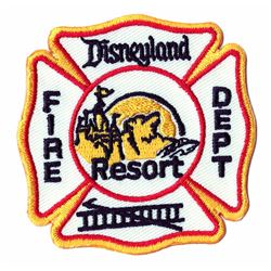 Disneyland Resort Fire Patch Dept Patch.