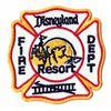 Disneyland Resort Fire Patch Dept Patch.